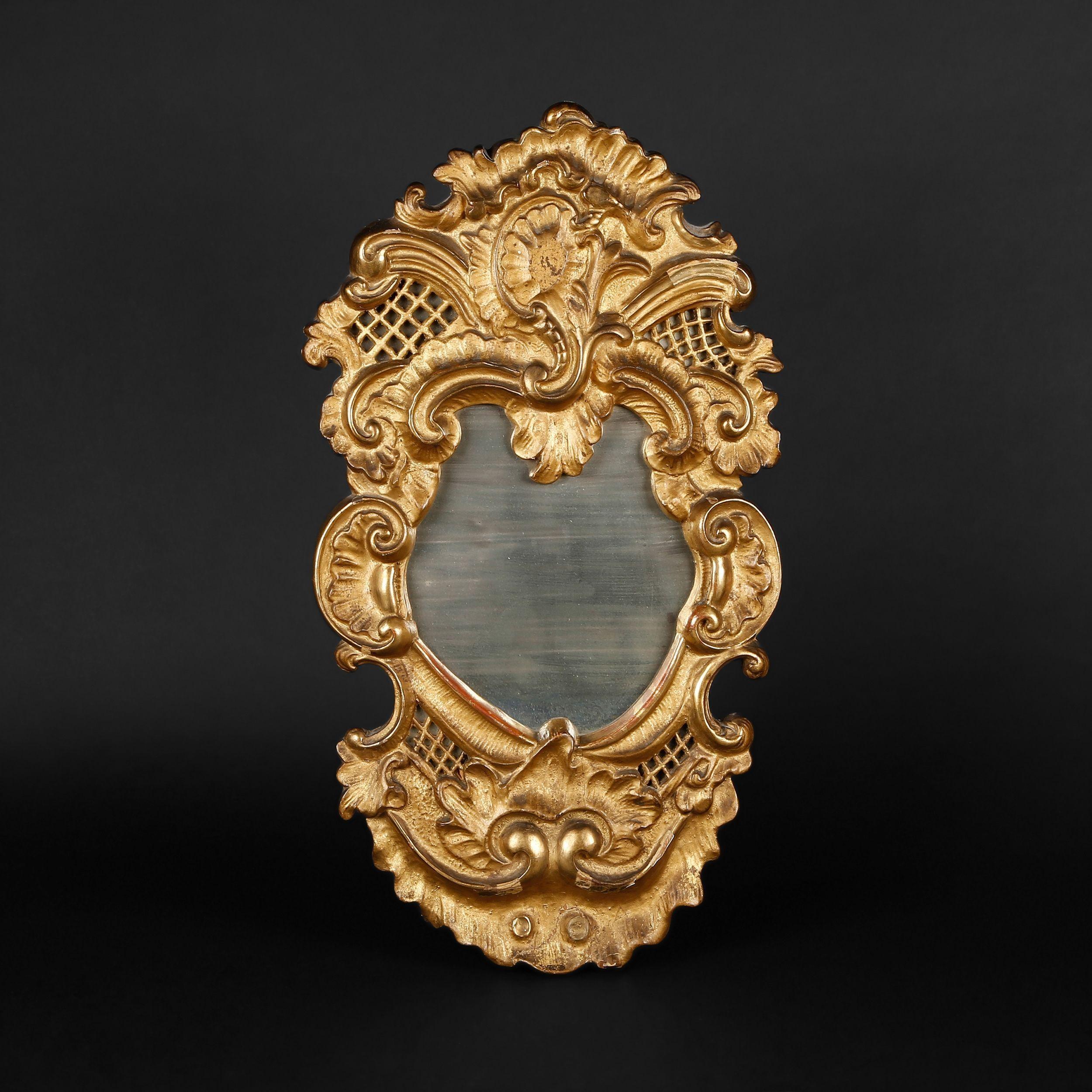 Small Gilt Wood Mirror (Image 13 of 20)