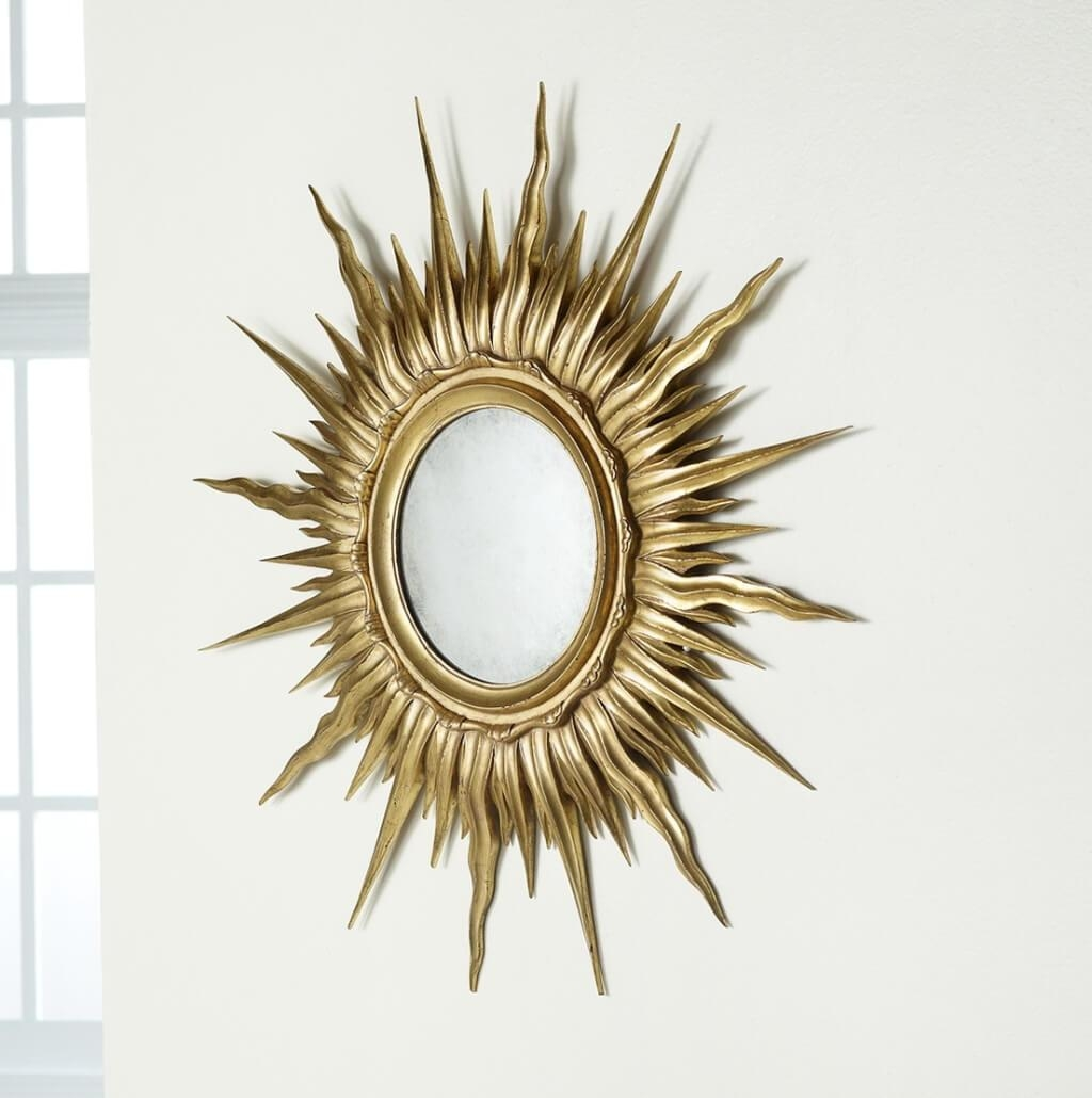 Small Gold Sunburst Mirror 11 Stunning Decor With Elegant Gold Throughout Small Gold Mirrors (View 18 of 20)