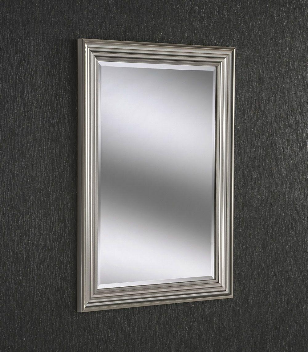 Small Modern Silver Mirror | Bedroom & Living Room Mirrors | Hills For Modern Silver Mirror (Image 20 of 20)