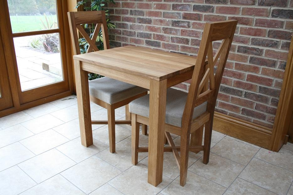 Small Oak Dining Table And 2 Chairs | Ciov Within Small Oak Dining Tables (Image 15 of 20)