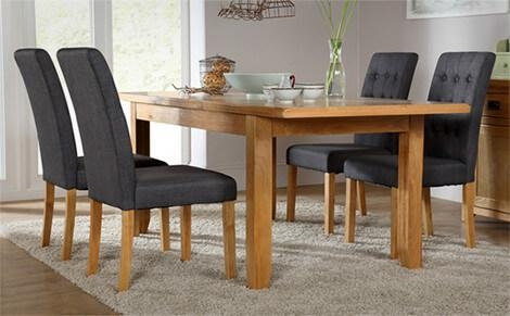 Small Oak Dining Table And 4 Chairs Regarding Oak Dining Tables And 4 Chairs (View 13 of 20)