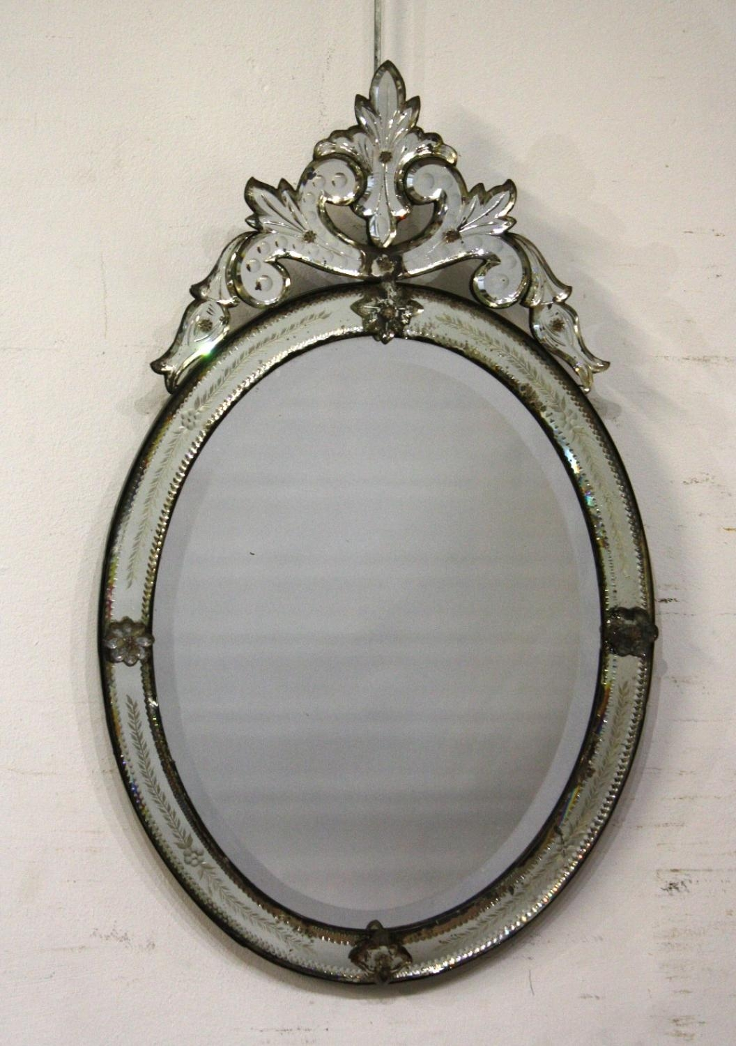 Small Oval Venetian Mirror Within Small Antique Mirrors (Image 19 of 20)