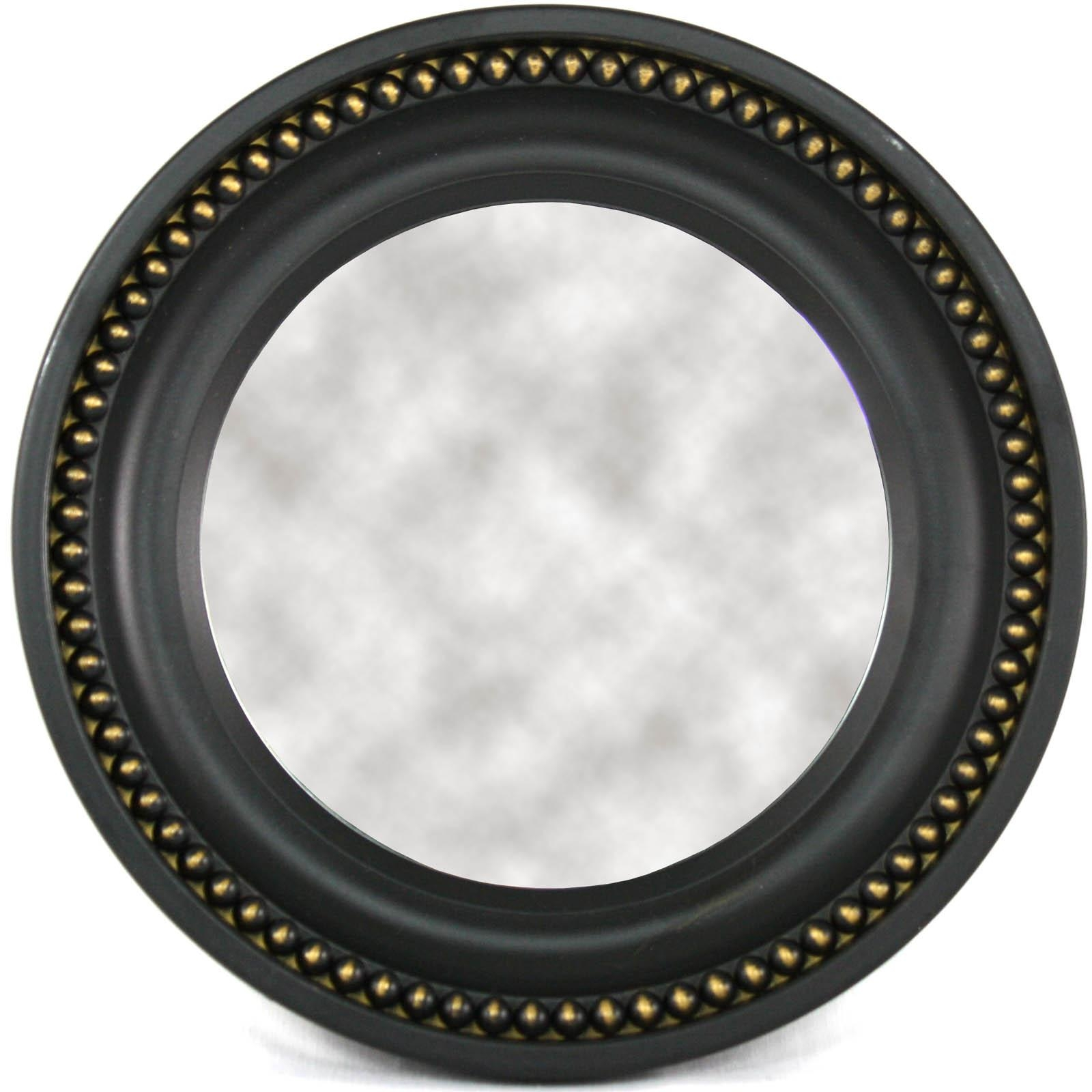 Small Round Black Mirror, Pertaining To Round Black Mirrors (Image 19 of 20)