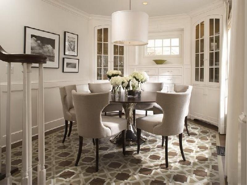 Small Round Glass Dining Table And Chairs For Large White Round Dining Tables (Image 13 of 20)