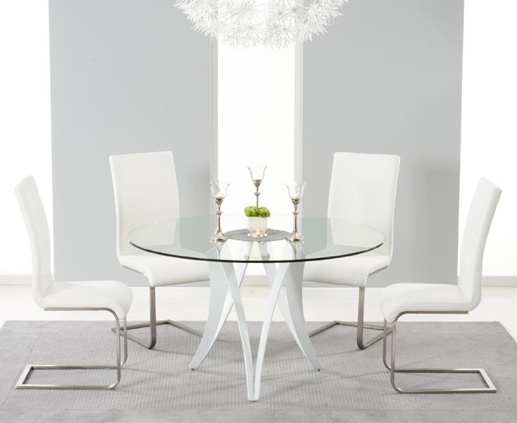 Small Round Glass Dining Table And Chairs Inside Small Round White Dining Tables (Image 18 of 20)
