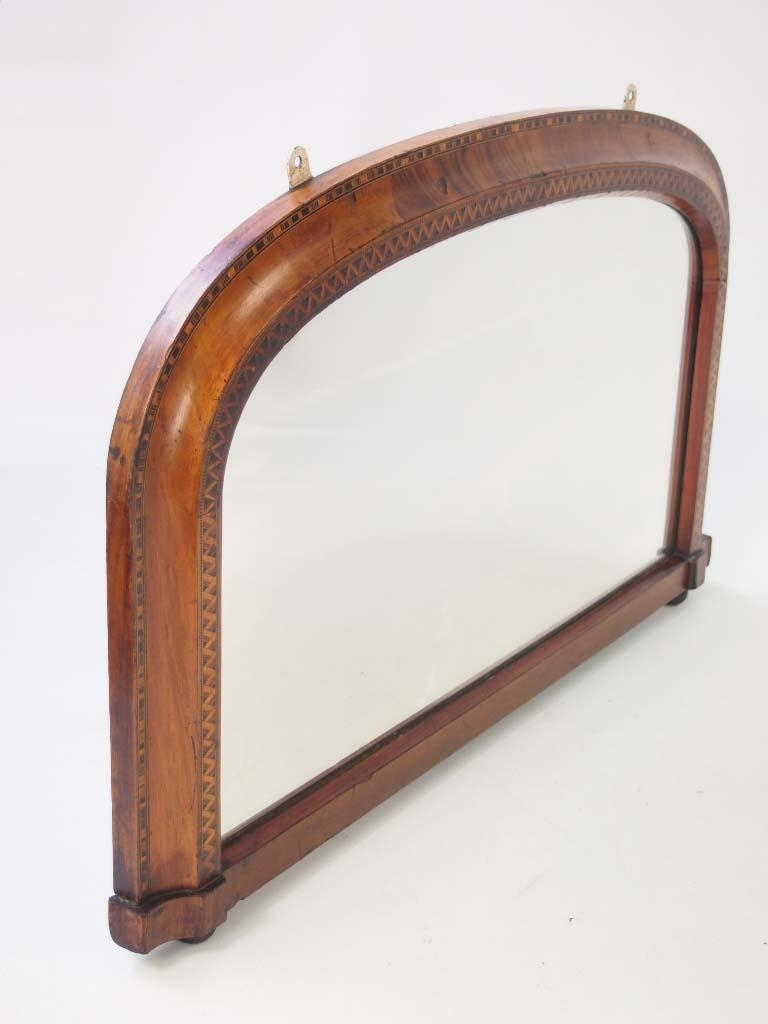 Small Victorian Walnut & Marquetry Overmantle Mirror – – With Regard To Vintage Overmantle Mirror (Image 20 of 20)