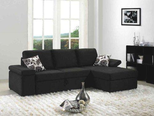 Sofa Beds Design: Best Ancient Black Suede Sectional Sofa Design Pertaining To Black Microfiber Sectional Sofas (Image 18 of 20)