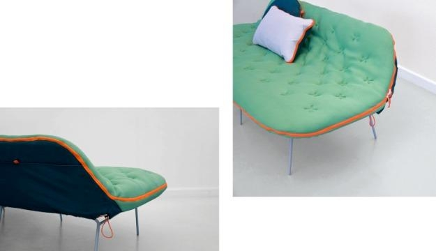 Sofa Unzips To Reveal Cosy Sleeping Bag – Psfk Within Sleeping Bag Sofas (Image 19 of 20)