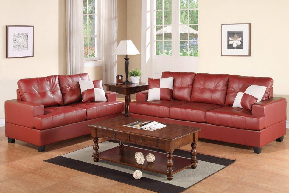 Sofas Center : Kyler Burgundy Leather Sofa And Loveseat Set With Burgundy Leather Sofa Sets (Image 20 of 20)