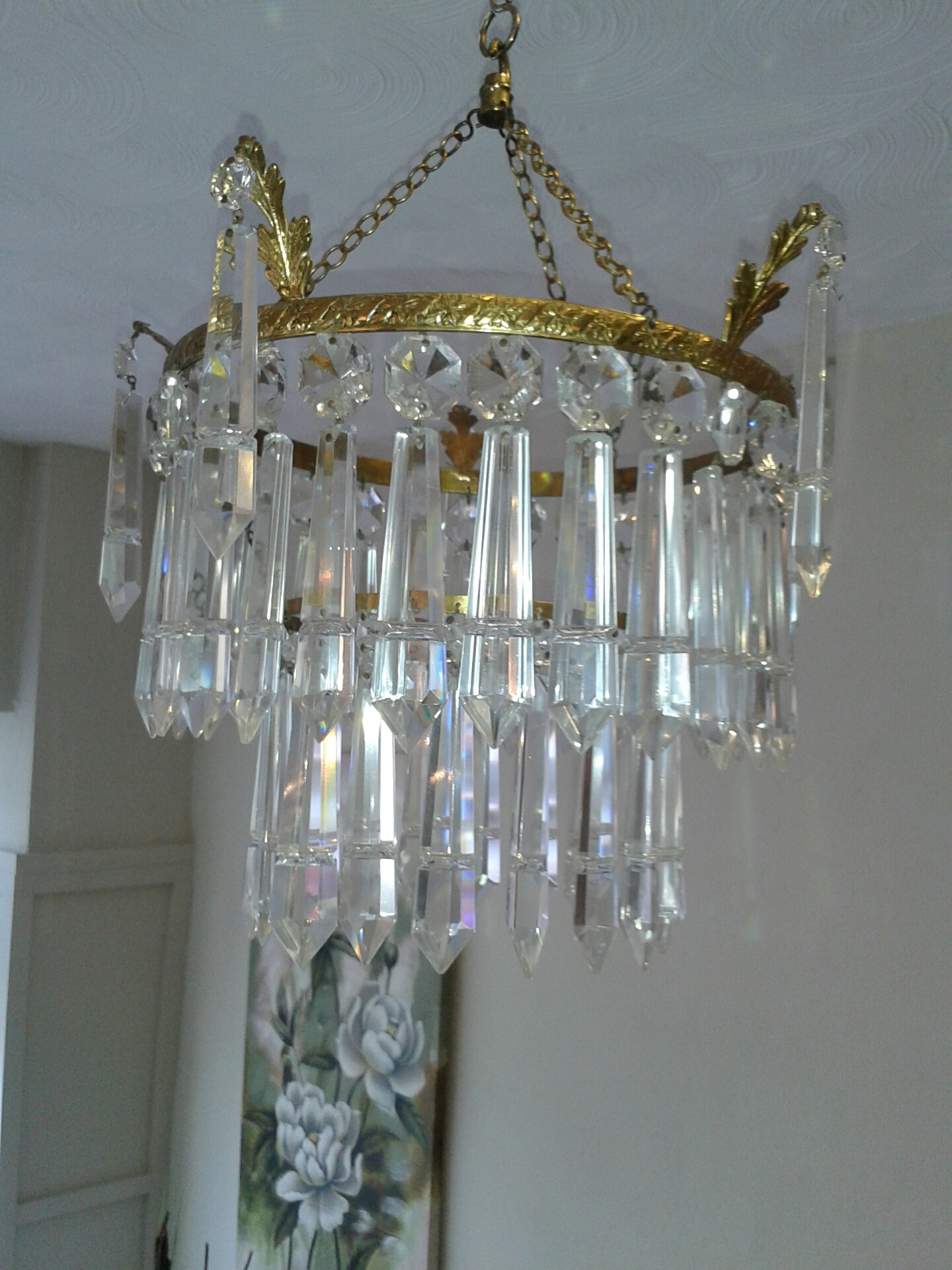 Sold Early 20th Century Waterfall Chandelier Th128 For Waterfall Chandeliers (Image 19 of 25)