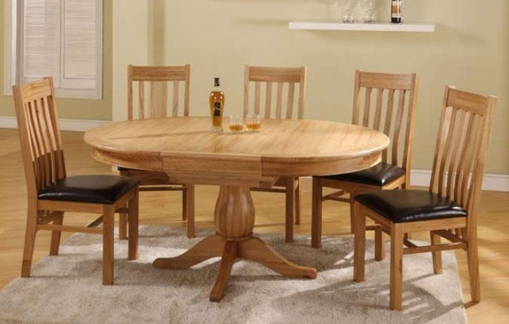 Solid Oak Round Dining Table Within Extending Solid Oak Dining Tables (View 20 of 20)