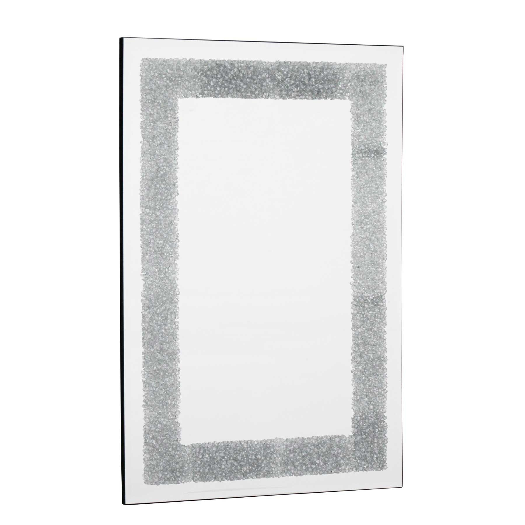 Solid Silver Glitter Mirror Inside Glitter Frame Mirror (Image 17 of 20)