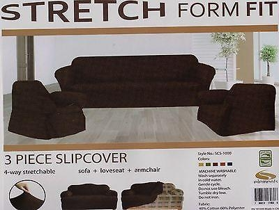 Solid Suede Couch Covers 3 Piece Sage Color Slipcover Set = Sofa Intended For 3 Piece Slipcover Sets (Image 17 of 20)