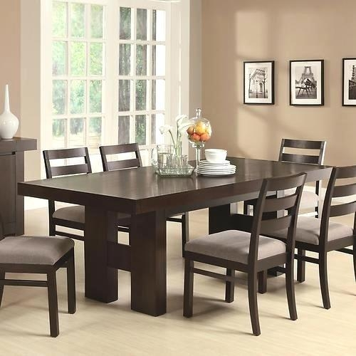 Solid Wood Dining Table Set – Kiurtjohnson (Image 19 of 20)