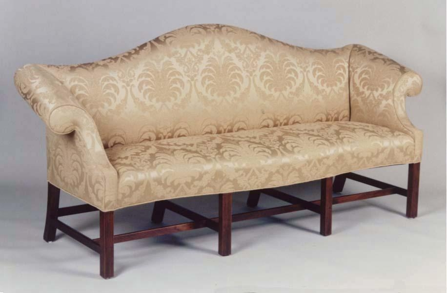 Some Style Camel Back Sofa | Med Art Home Design Posters Pertaining To Chippendale Camelback Sofas (Image 20 of 20)