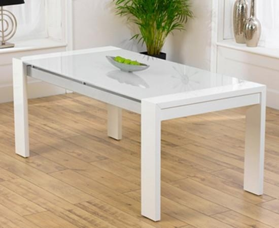 Sophia High Gloss White Dining Table With A White Glass Top Inside Gloss White Dining Tables (Image 12 of 20)