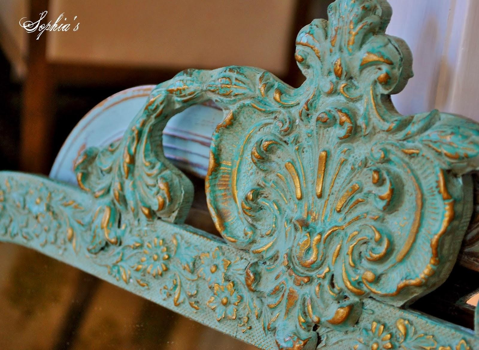 Sophia's: Updating Mirrors With Chalk Paint With Ornate Gold Mirrors (Image 17 of 20)