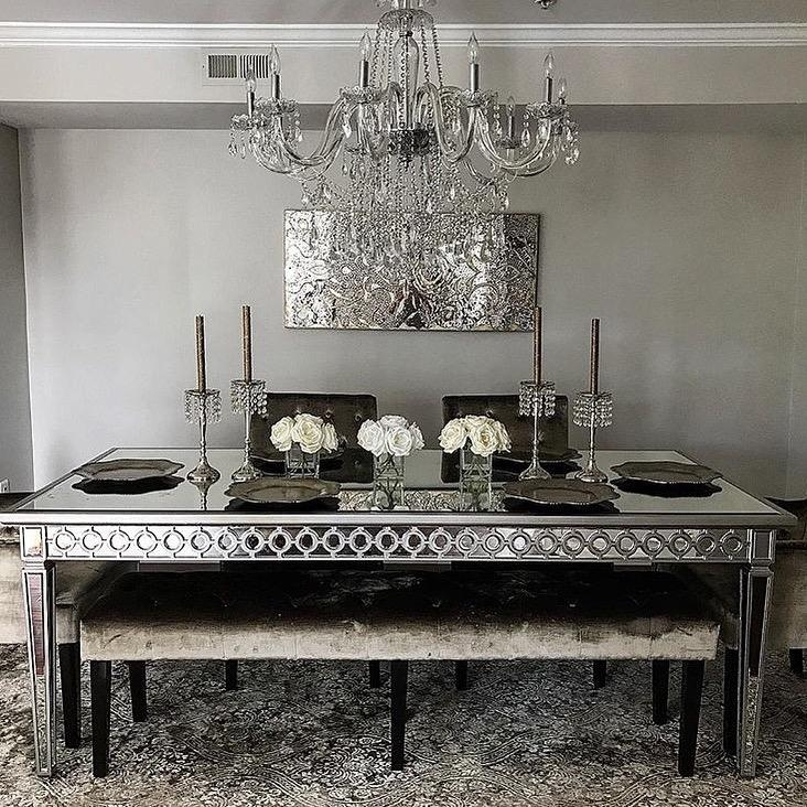Sophie Mirrored Dining Table Inside Mirrored Dining Tables (Image 17 of 20)