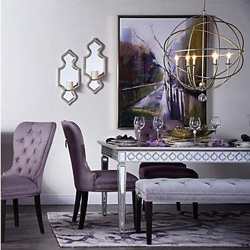 Sophie Mirrored Dining Table With Regard To Mirrored Dining Tables (Image 18 of 20)