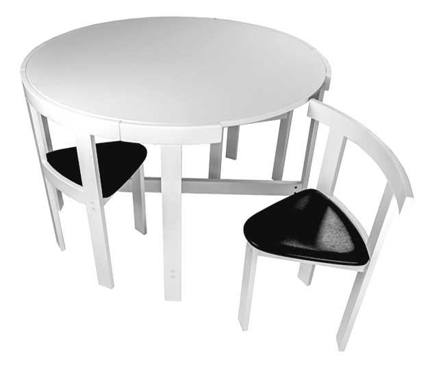 Space Saving Dining Table And Chairs For Black Folding Dining Tables And Chairs (Image 14 of 20)