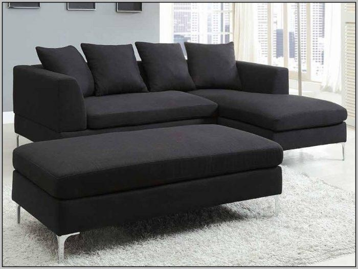 Spacious Black Microfiber Sectional Sofa Set – Sofas : Home With Regard To Black Microfiber Sectional Sofas (Image 19 of 20)