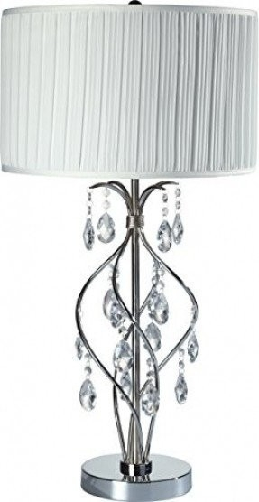 Spiral Hanging Floor Lamp Foter With Regard To Faux Crystal Chandelier Table Lamps (Image 18 of 25)