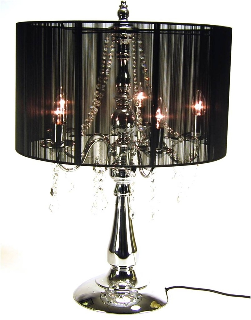 Splendid Small Crystal Chandelier Table Lamp 59 Small Crystal Pertaining To Small Chandelier Table Lamps (View 10 of 25)