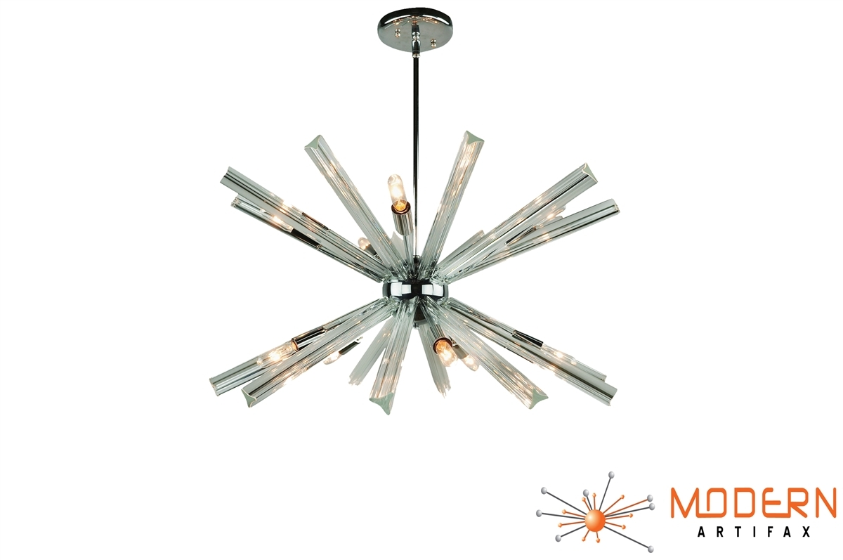Sputnik Chandelier Chrome 27 In Diameter With 20 Crystal Prisms Pertaining To Chrome Sputnik Chandeliers (Image 16 of 25)