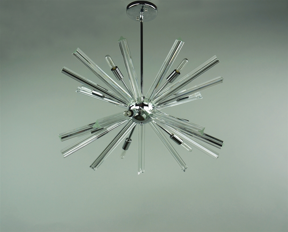 Sputnik Chandelier Chrome 27 In Diameter With 20 Crystal Prisms Throughout Chrome Sputnik Chandeliers (Image 17 of 25)