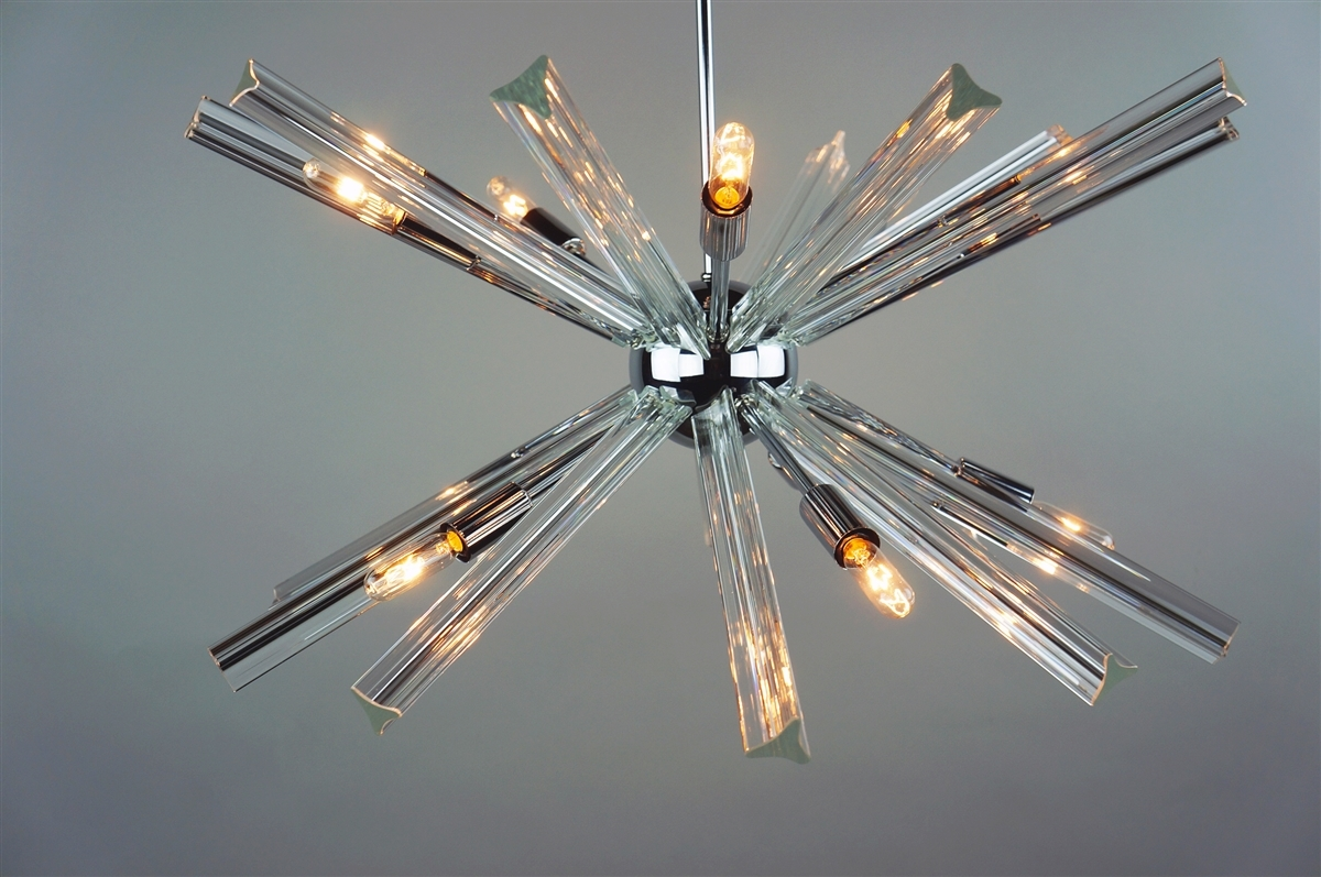 Sputnik Chandelier Chrome 27 In Diameter With 20 Crystal Prisms With Chrome Sputnik Chandeliers (Image 18 of 25)