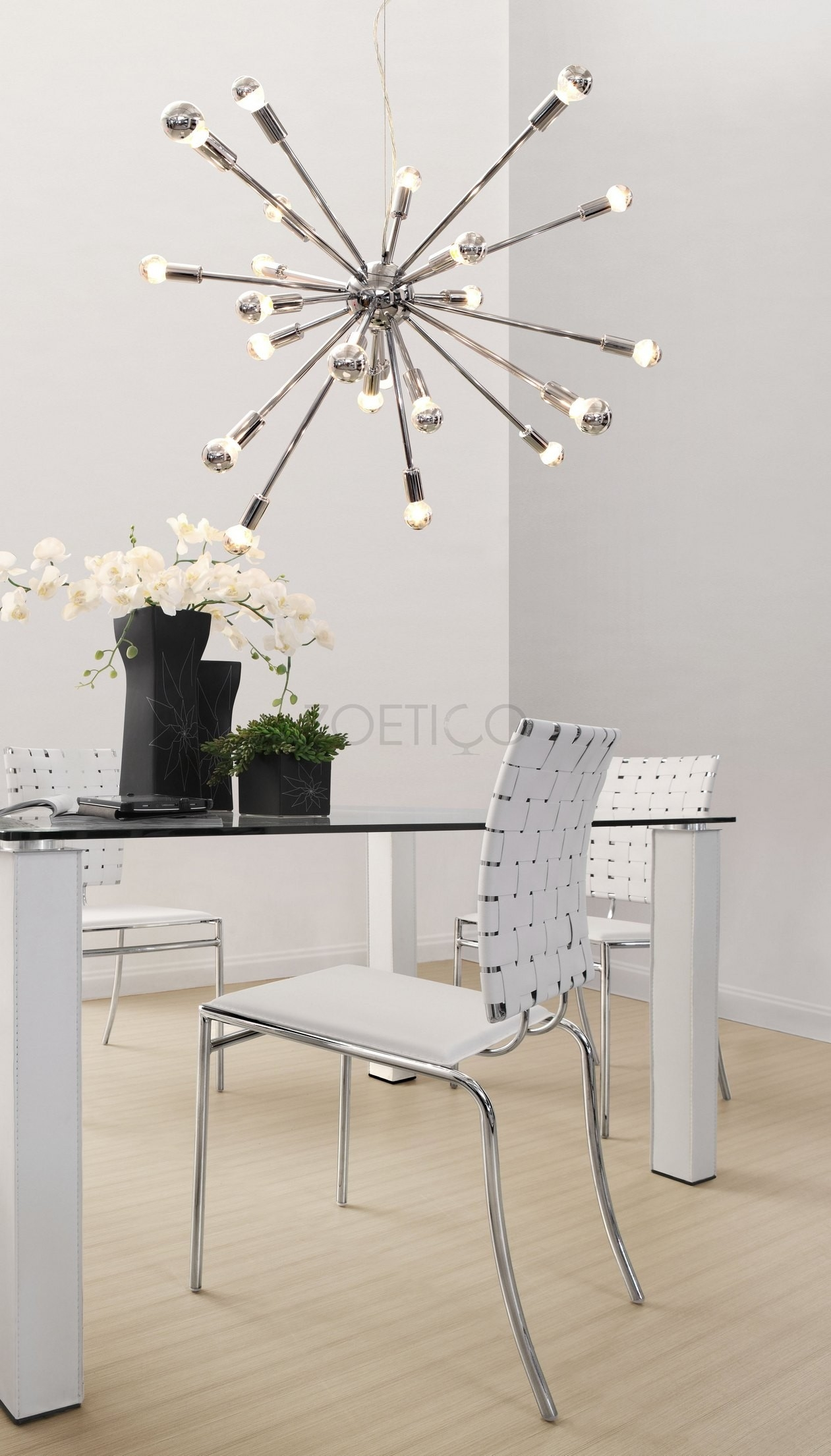 Sputnik Spark Star Hanging Chandelier Multiple Sizes Designer For Chrome Sputnik Chandeliers (Image 20 of 25)