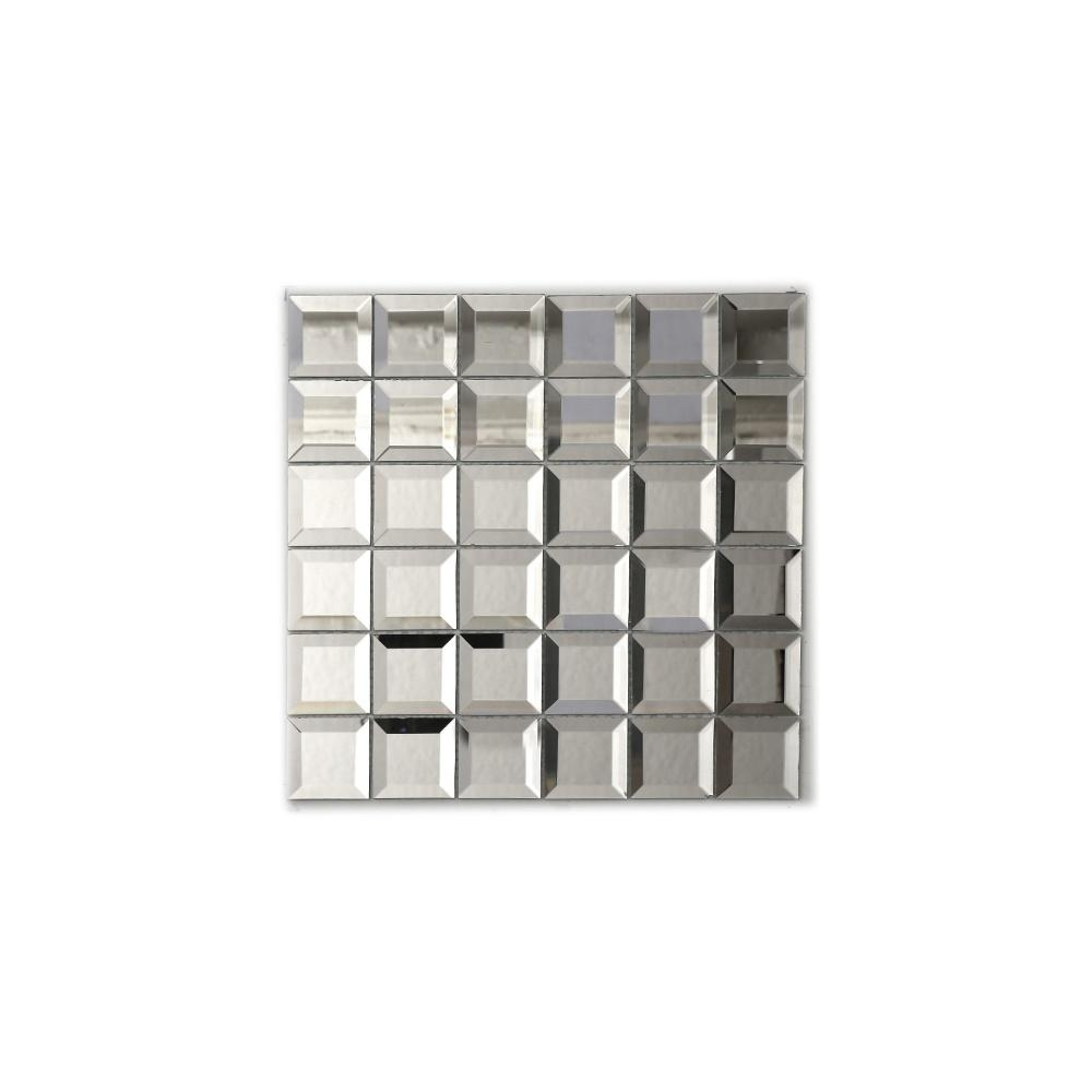 Square Bevel (5Cm X 5Cm) 30Cm X 30Cm Mosaic Tile For Square Bevelled Mirror (Image 20 of 20)