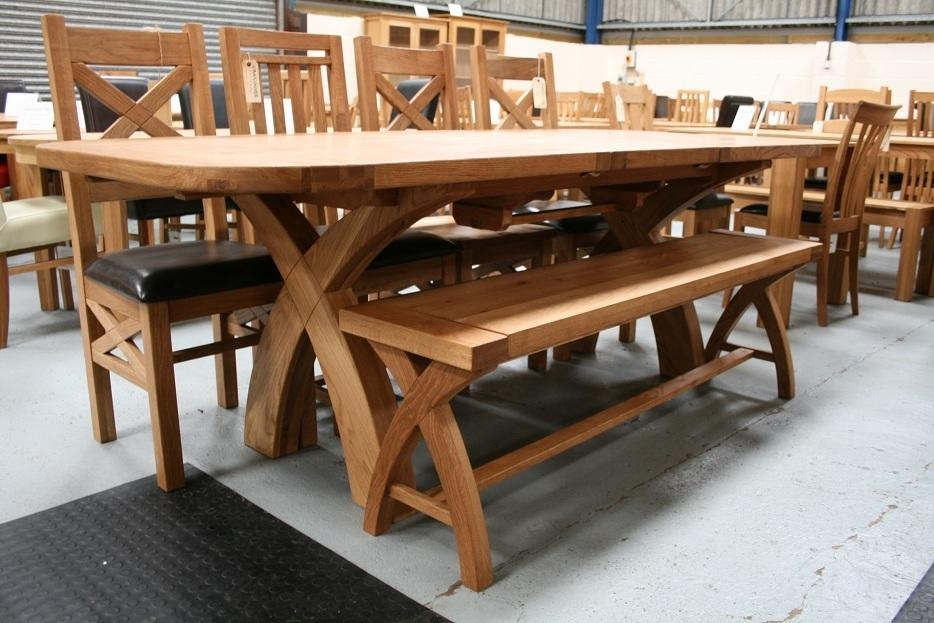 Square Dining Room Table With Glass Top And Rattan Seats 8 With Regarding 8 Seater Oak Dining Tables (Image 18 of 20)