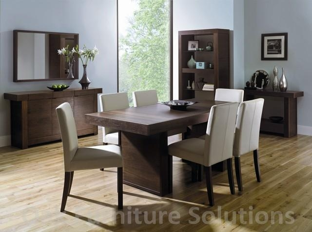 Square Dining Table For 6 6 Ft Square Karl Springer Parchment For Walnut Dining Table And 6 Chairs (Image 18 of 20)
