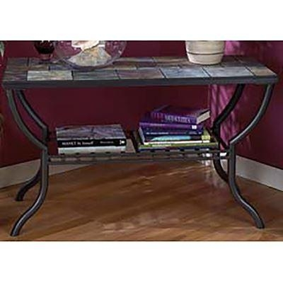Square End Table Slate And Metal T233 2 | Ashley Furniture | Afw Inside Slate Sofa Tables (Image 19 of 20)