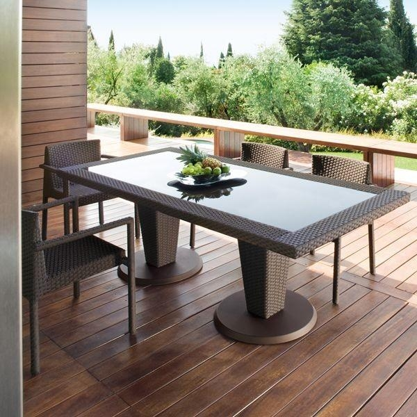 St Tropez Outdoor Wicker Dining Table And Chairs – Modern – Patio Within Garden Dining Tables (Image 19 of 20)