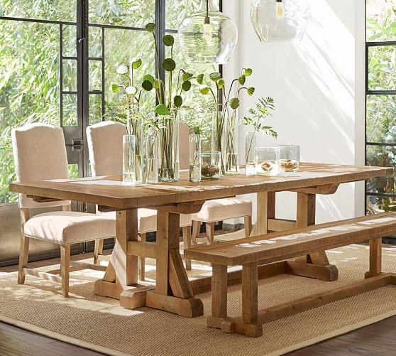 Stafford Reclaimed Pine Extending Dining Table | Pottery Barn Intended For Extending Dining Tables (Image 20 of 20)