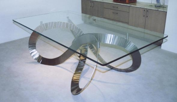 Stainless Steel Dining Tables. Dining Table Made From Stainless Regarding Brushed Metal Dining Tables (Photo 20 of 20)