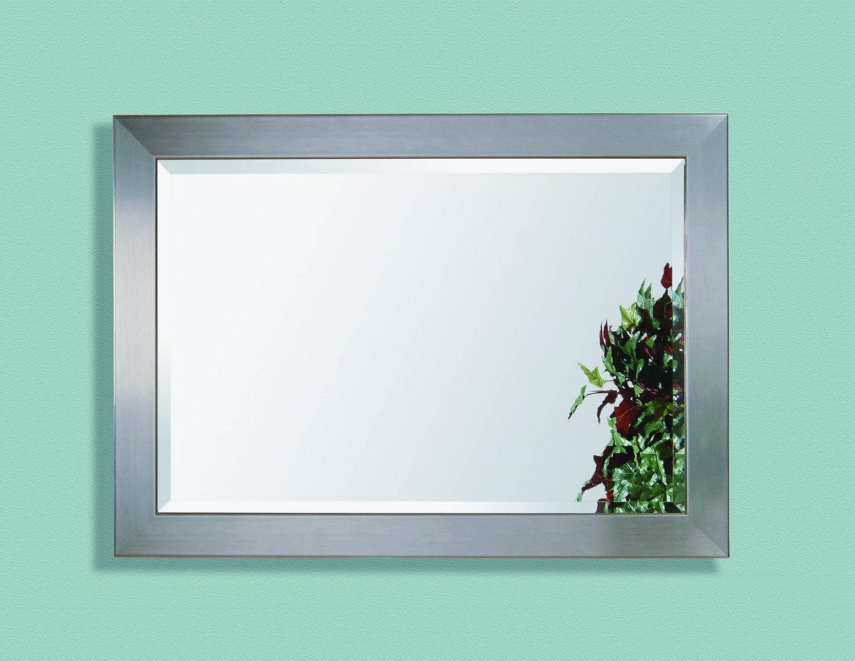 Stainless Wall Mirror (Brushed Chrome Finish) – [63307 1814Ec Throughout Chrome Wall Mirror (Image 17 of 20)