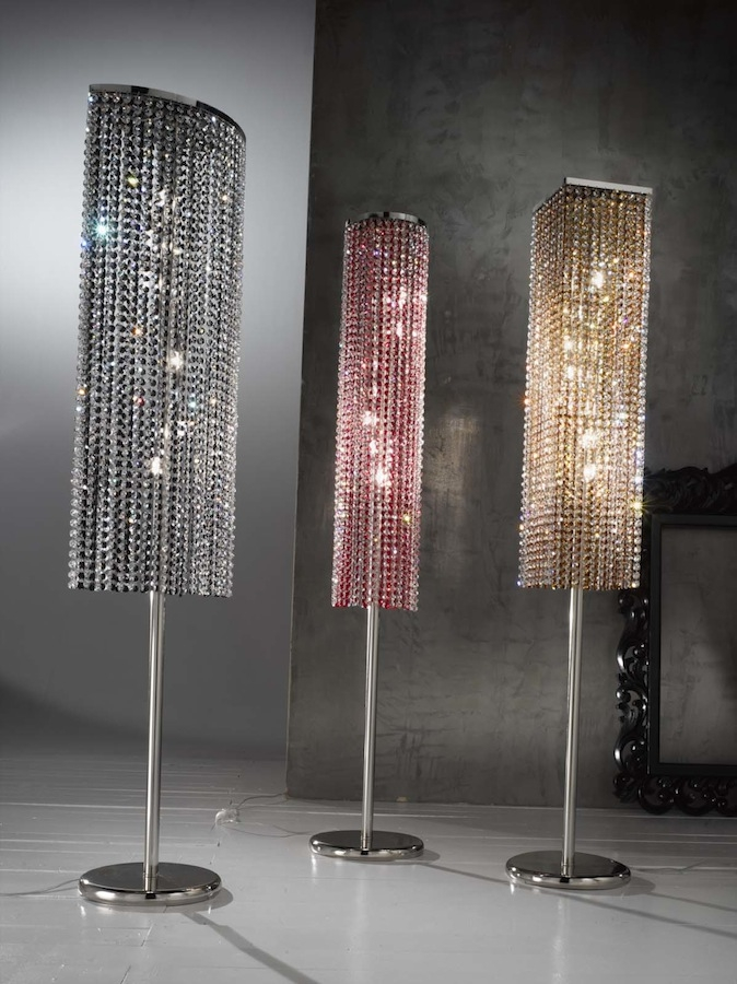 Standing Chandelier Floor Lamp Campernel Designs Regarding Crystal Chandelier Standing Lamps (Image 20 of 25)