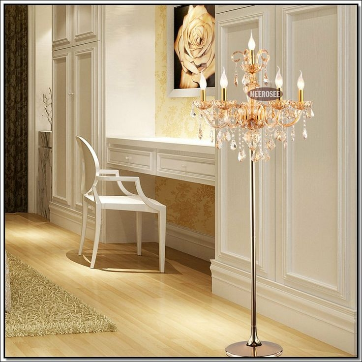 Standing Chandelier Floor Lamp Campernel Designs With Crystal Chandelier Standing Lamps (Image 21 of 25)