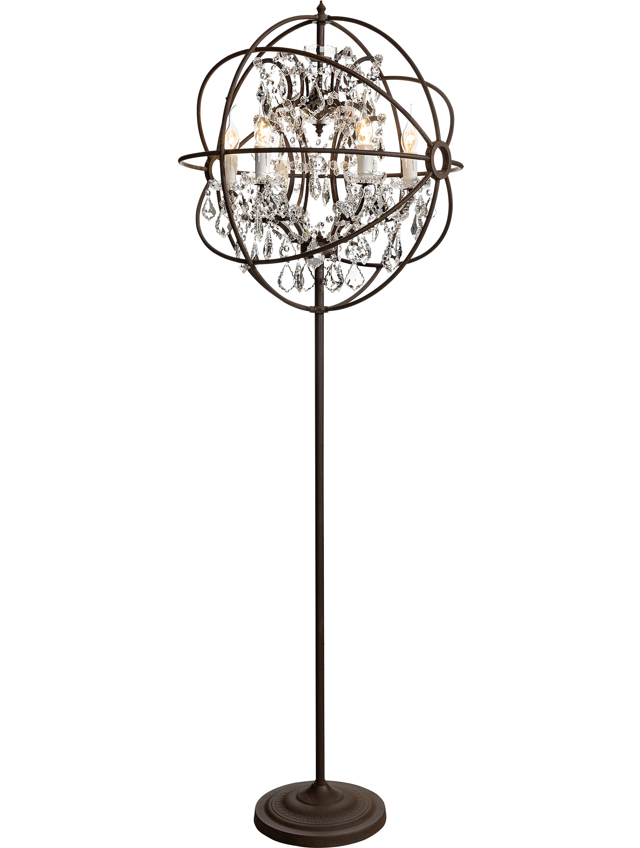 Standing Chandelier Floor Lamp Lighting And Ceiling Fans Throughout Tall Standing Chandelier Lamps (Image 21 of 25)
