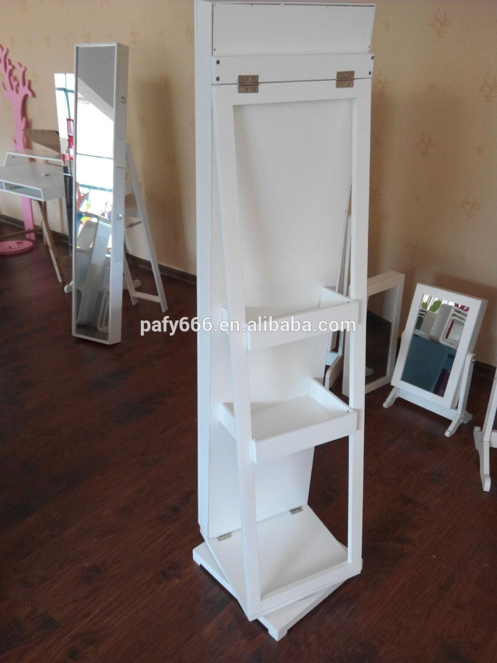 Standing Mirror Jewelry Armoire Full Length Dressing Mirror With Regarding Dressing Mirrors Free Standing (Image 19 of 20)