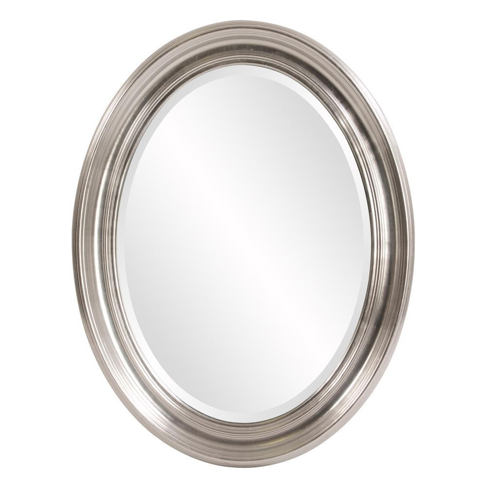 Sterling Oval Silver Mirror 56176 – The Home Depot With Regard To Oval Silver Mirror (Image 12 of 20)