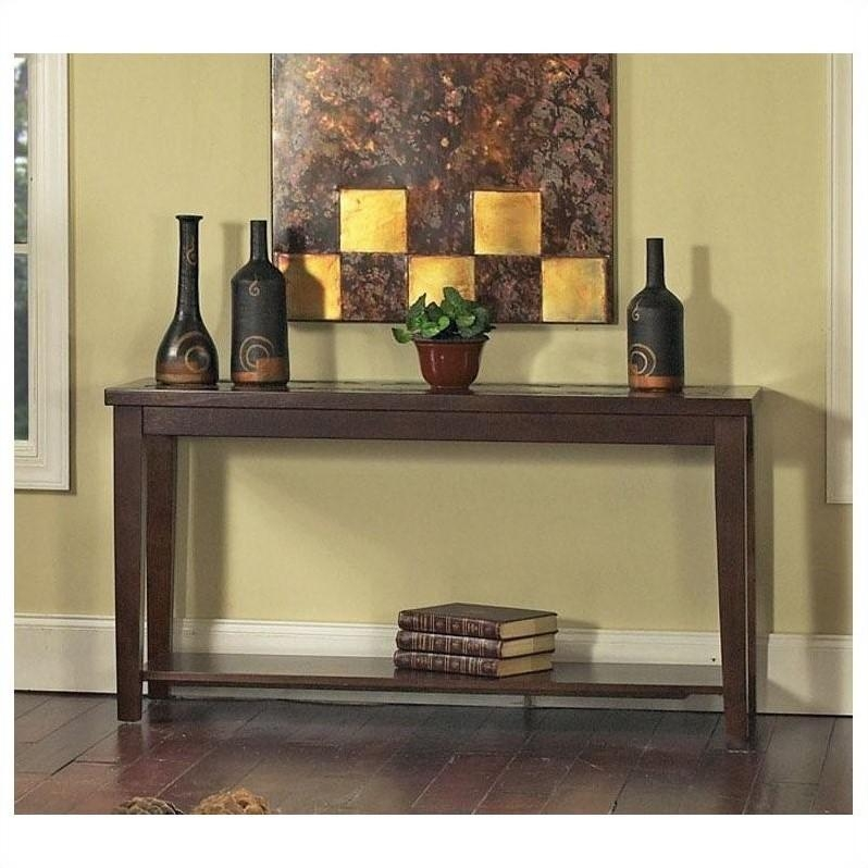 Steve Silver Company Davenport Slate Sofa Table – Da150S For Slate Sofa Tables (Image 20 of 20)