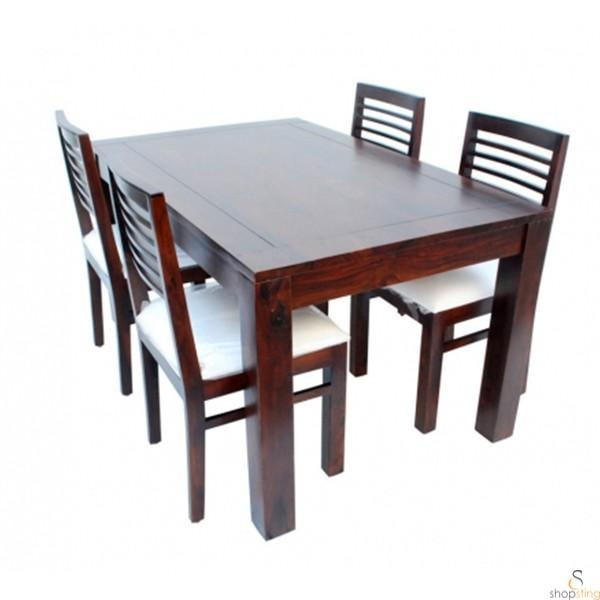 Sting Solid Wood 4 Seater Dining Table Set – Dining With 4 Seat Dining Tables (Image 17 of 20)