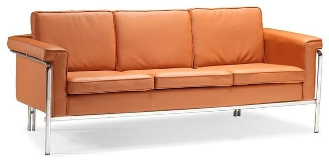 Store Of Modern Furniture In Captivating Orange Leather Sofa For Orange Modern Sofas (Image 18 of 20)