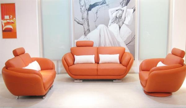 Store Of Modern Furniture In Captivating Orange Leather Sofa Regarding Orange Modern Sofas (Image 20 of 20)