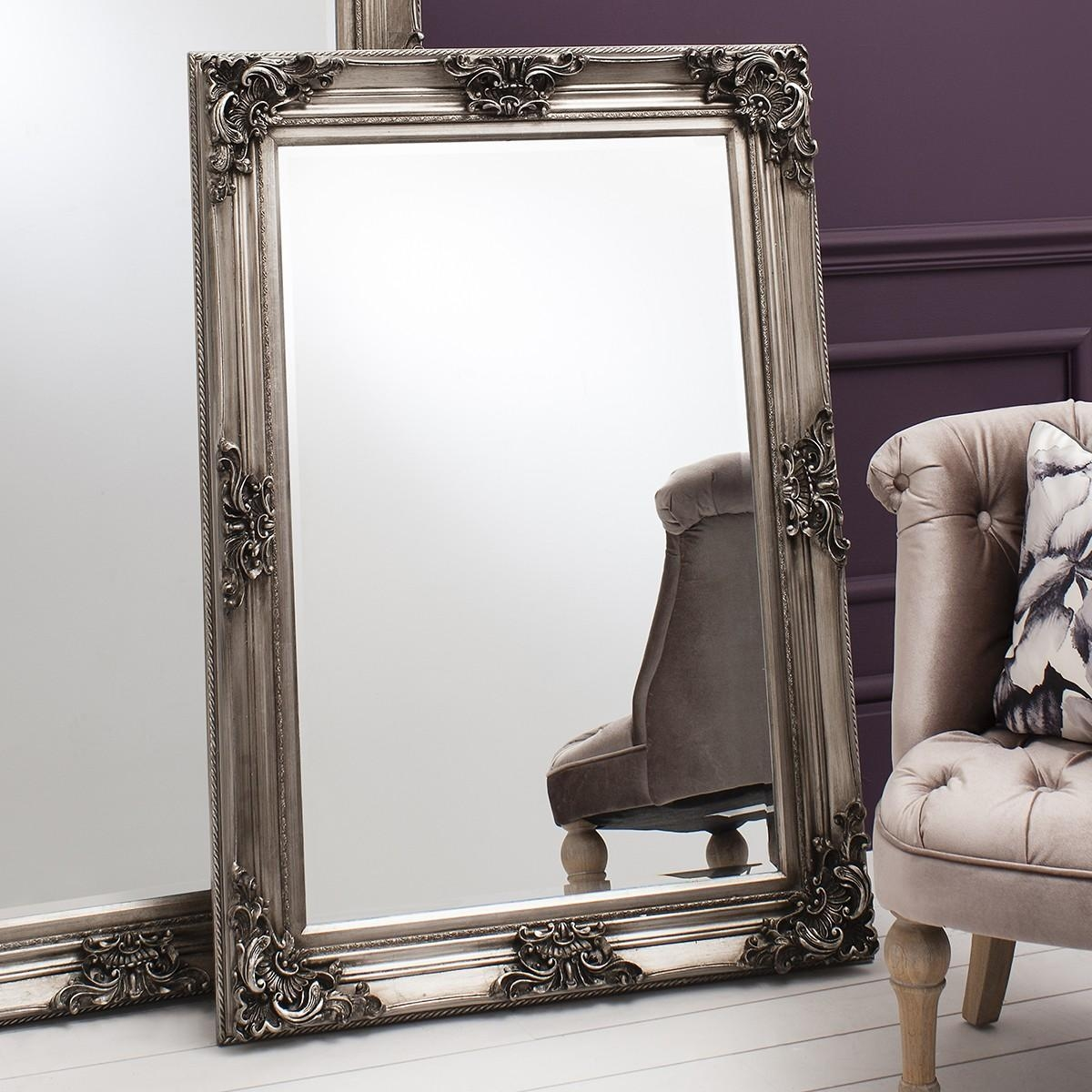 Strauss Baroque Mirror From £219 – Luxury Wall Mirrors | Ashden Road Within Baroque Mirror Silver (Image 18 of 20)
