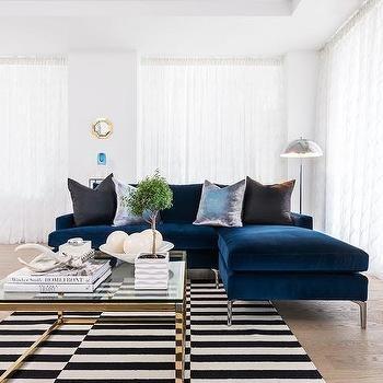 Striped Sofa Design Ideas Regarding Blue And White Striped Sofas (Image 17 of 20)